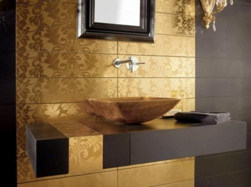 glamouröse interior ideen mattglanz schalenförmiges waschbecken