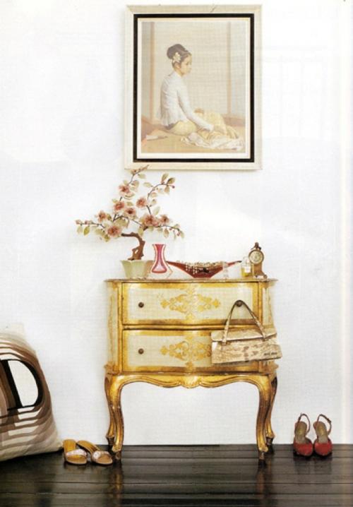 glamouröse interior vintage kommode und bonsai asiatisches flair