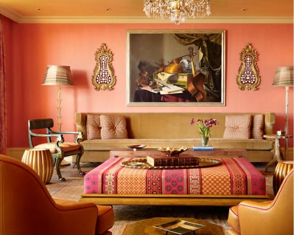 großartige marokkanische Interior Designs gepolstert tisch wohnzimmer gemälde