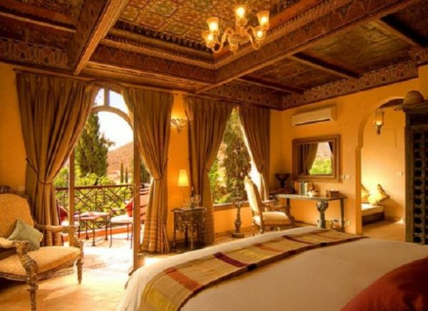 großartige marokkanische Interior Designs offen raum vorhänge