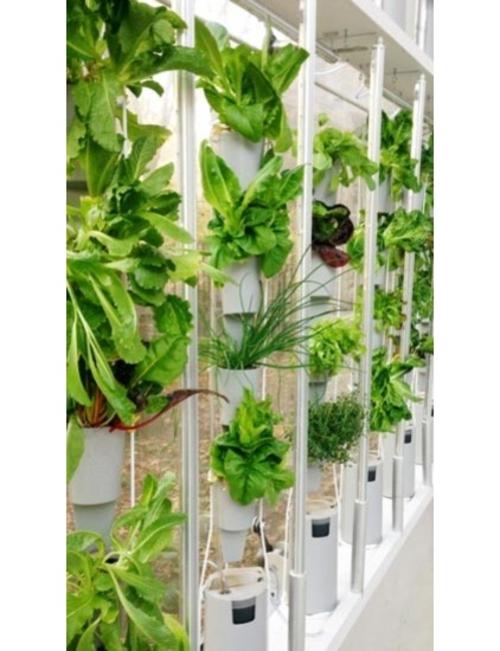 high-tech pflanzen geräte kleine behälter vertikaler garten