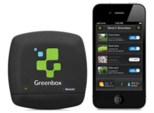 high-tech pflanzen geräte smart phone und green box