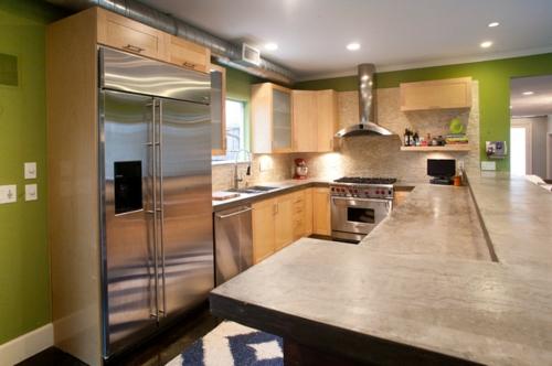 industrielle Akzente im Interior Design glanzvoll kühlschrank küche