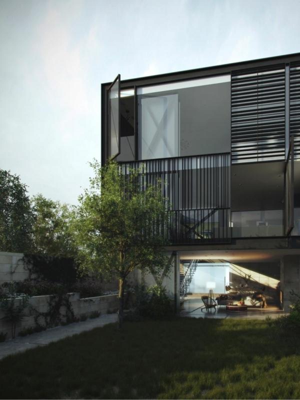 Innovatives Glaskasten Haus - gewagtes Design und modernes Interior