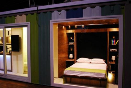 inspirierende Container Häuser fenster fassade schlafzimmer eingebaut regale