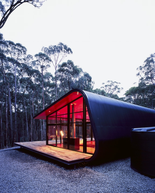 inspirierende Container Häuser holzplatten natur umgebung avantgardistisch