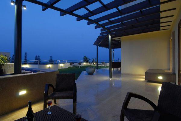 integrierte beleuchtung außenbereich pergola gartenlaub design romantisch