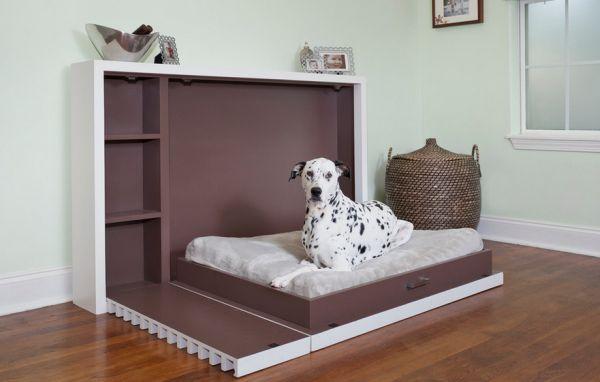intelligente designs mit klappbett für den hund
