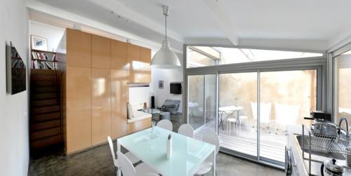kleine Apartment Designs offene küchenbereich eingebaut schrank weiß