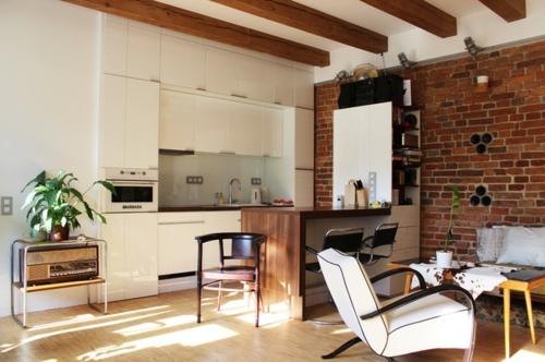 kleine Apartment Designs orientalisch details küche essbereich weiß einrichtung