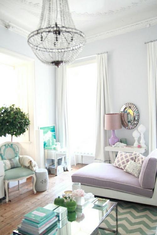 wohnzimmer pastellfarben: Wohnzimmer gestalten wohnideen französsisch stil pastellfarben