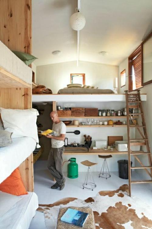kleines apartment zeigt größe - stilvolle und kreative designs - Apartment Küche