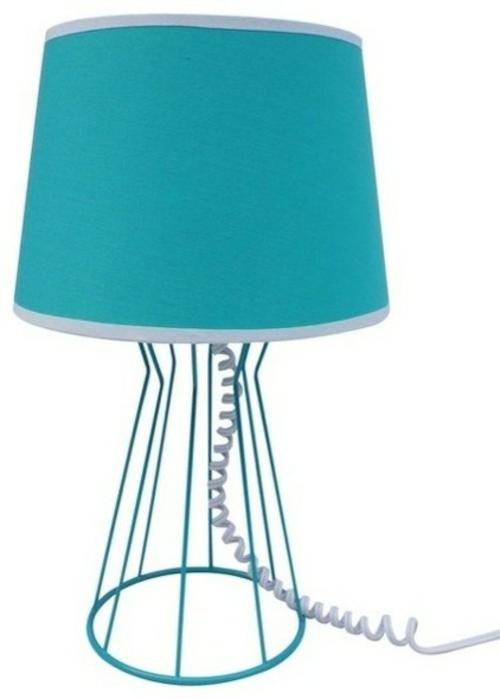 kostengünstige Deko Accessoires wohnideen tischlampe türkis