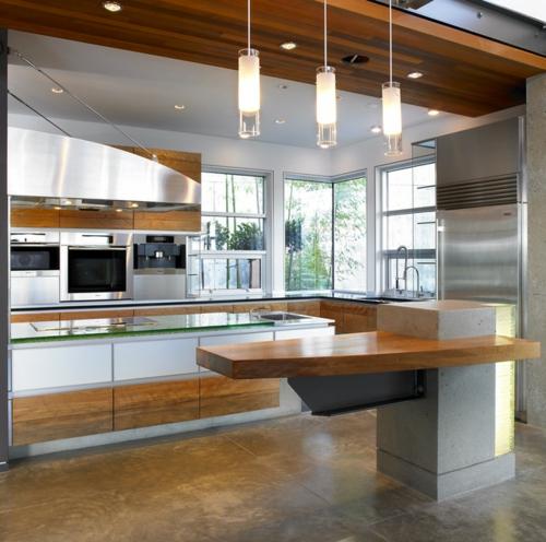 kreative Ideen für Küchenfenster modern design holz natürliches licht
