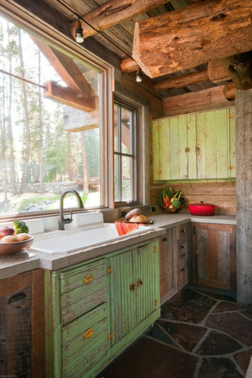 kreative Küchenfenster rustikal design spüle schränke