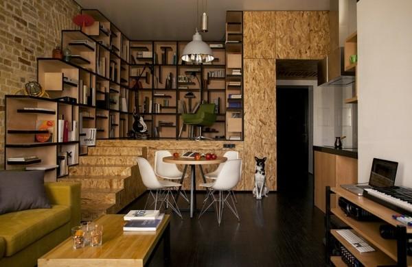 kreative wohnung mit flie endem design eine frische idee aus kiew. Black Bedroom Furniture Sets. Home Design Ideas