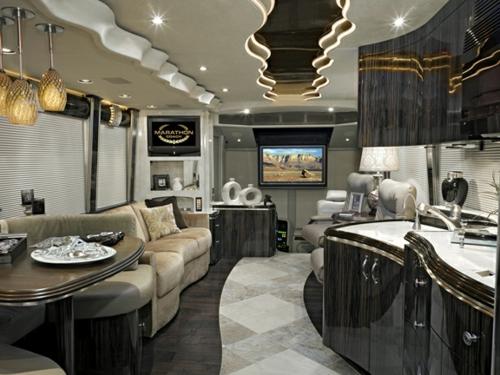 luxus küche sitzecke sofas wellen formen leuchten zimmerdecke