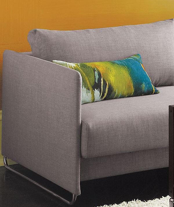 möbel kollektion herbst graue couch und akzent kissen grün und blau