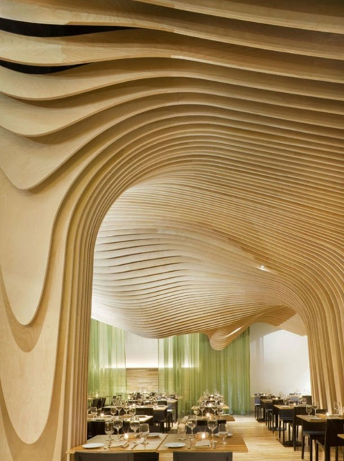 massiv helles naturholz formen deckenverkleidung idee