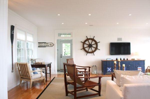 37 nautische deko ideen von steuerr dern bis zu seesternen. Black Bedroom Furniture Sets. Home Design Ideas