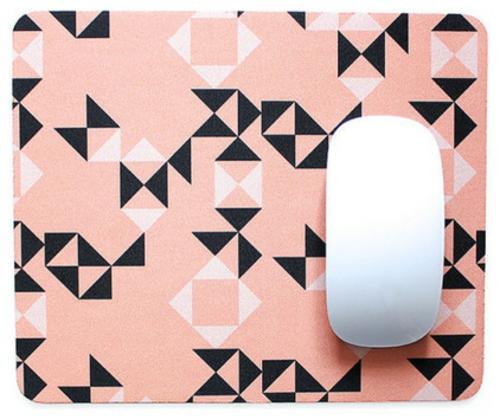 mause pad geometrischeformen muster pfirsichfarben idee