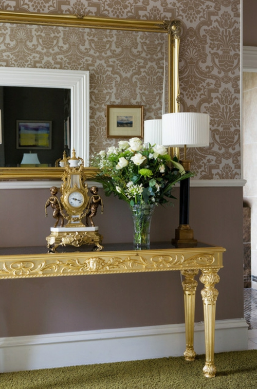 moderne dekoration trends blattgold und neobarock