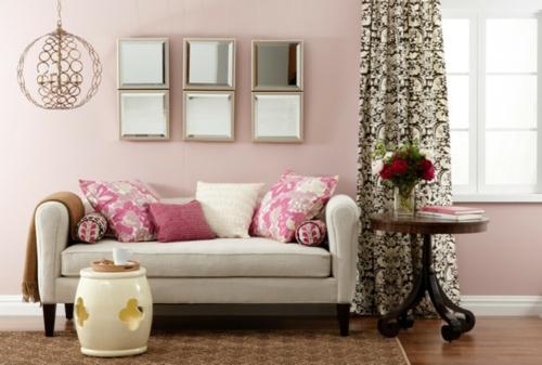 moderne dekoration trends gewölbter beistelltisch florale muster