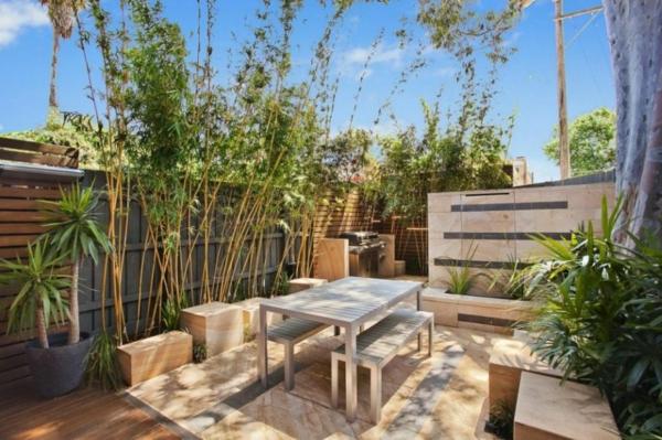 moderner hausanbau minimalistische ausstattung auf der terrasse