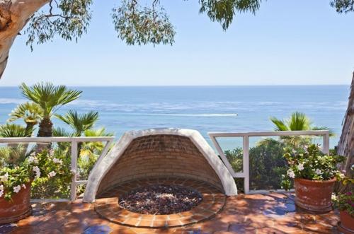 terrassen offen feuerschale rechteckig romantik vermitteln