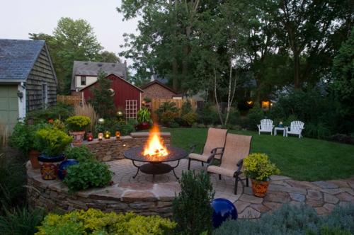 feuerstelle fur den garten – rekem, Hause und Garten