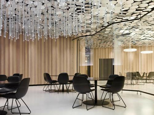 originelle Deckenverkleidung hängende glas stock glanzvoll lobbybar