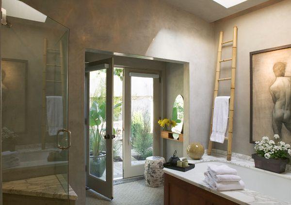 originelle einrichtungsideen im bad - badetücher mit schwung, Badezimmer