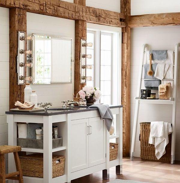 Originelle Einrichtungsideen im Bad - Badetücher mit Schwung