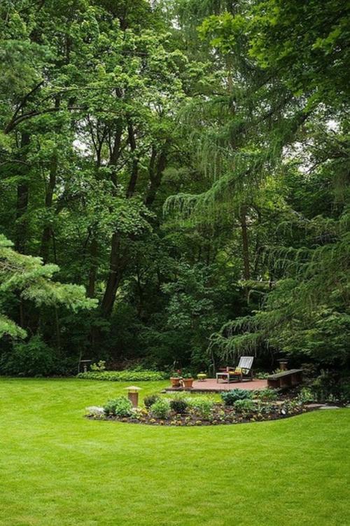 prinzipien für ein perfektes design terrasse mit liege im park