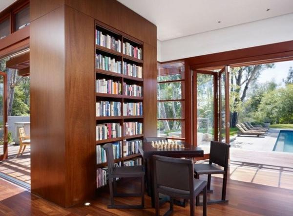 regale alsoriginelle  trennwand hausbibliothek aus walnussholz