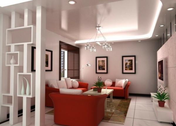 regale als trennwand minimalistisch und elegant in weiß