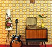 Tipps f r den retro look im wohnzimmer for Modische tapeten wohnzimmer