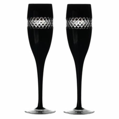 schicke sektgläser designs aus schwarzem glas