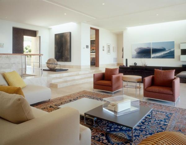 schicke wohnzimmer einrichtung sessel sofa design originell wohnideen schön
