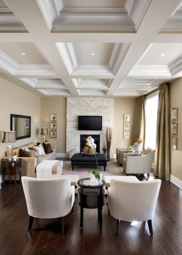 Schicke Wohnzimmer Einrichtung Sessel Sofa Design Originell Wohnideen