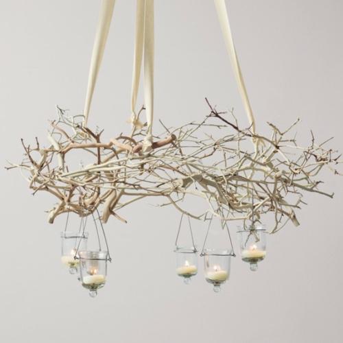 Creative Ideas For Branches As Home Decor: 25 Selbstgemachte Kronleuchter Aus Zweigen