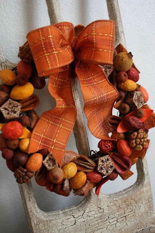 türkranz herbst dekoideen design dunkel nuancen braun orange