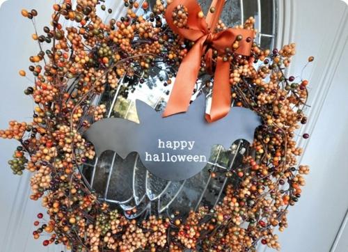 türkranz herbst dekoideen design halloween selbstmachen früchte