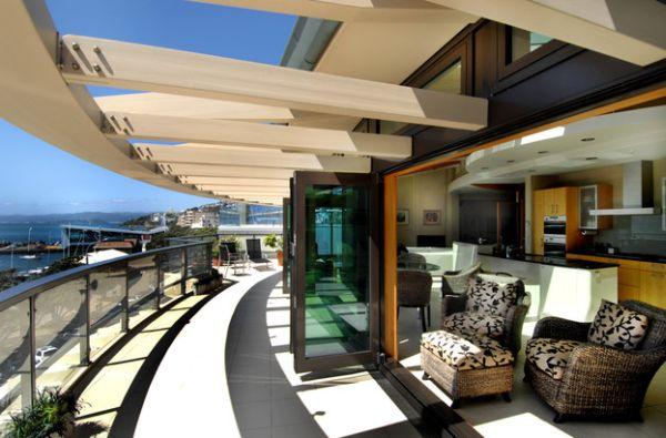 terrasse glas geländer pergola überdachung
