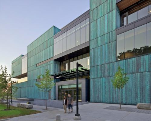 Moderner Materialismus Kupfer In Der Architektur Verwenden
