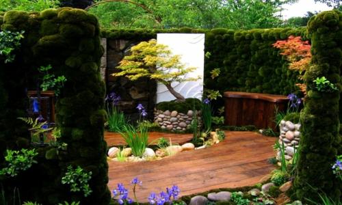 wunderschöne Landschaft auf der Landesgartenschau japan märchenhaft