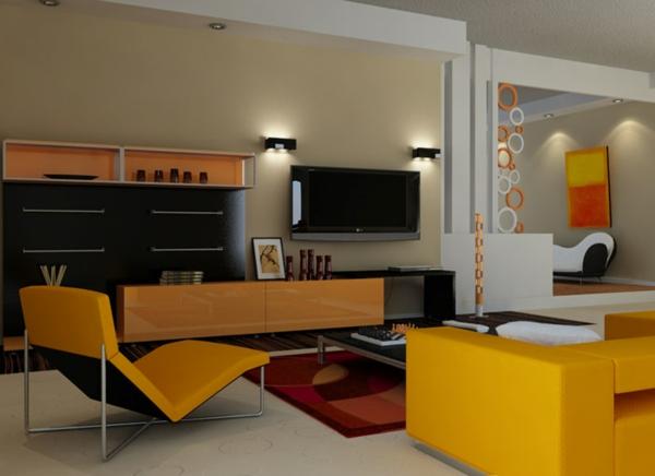 Aktuelle Interior Design Trends farben-kühn gelb sofa liege
