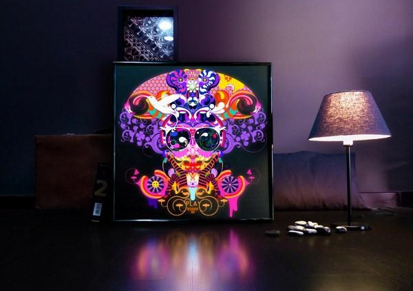 Interior Design Trends farben lila glanz stehlampe beleuchtung