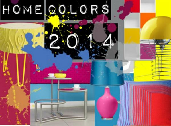 Aktuelle Interior Design Trends farben texturen materialien