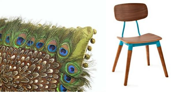 Aktuelle Interior Design Trends federn stuhl holz warm ambiente